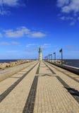 Damietta lighthouse at Ras El Bar,Egypt Stock Photos