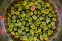 Damigiana con le olive Fotografie Stock Libere da Diritti