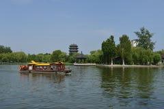 Daming Lake i Jinan fotografering för bildbyråer