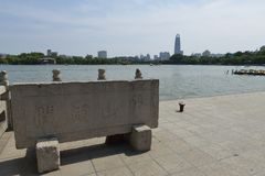 Daming Lake in Jinan royalty-vrije stock foto's