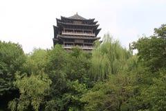 Daming Lake, ville de Jinan, province de Shandong, parc de la Chine Images libres de droits