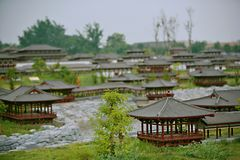 Daming Palace National Heritage Park imagem de stock
