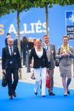 Damir Krsticevic, ministero della difesa della Croazia, Kolinda Grabar Kitarovic, presidente della Croazia e Marija Pejcinovic Bu Immagini Stock