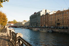 Damm, Ansicht von St Petersburg, Russland Stockfoto