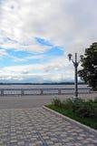Damm auf der Wolga der Samarastadt Lizenzfreie Stockbilder