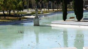 Damm av trädgårdarna av den industriella Spanien i Sants Royaltyfria Foton