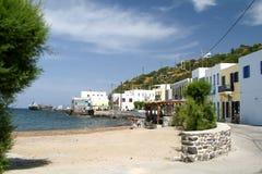 Damm der Hauptstadt der Insel von Nisyros - Mandraki stockfoto