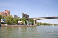 Damm in der Stadt von Rostov-On-Don Stockfotografie