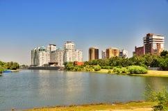 Damm des Flusses Kuban Lizenzfreies Stockbild