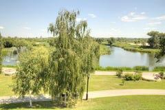 Damm des Flusses Tsna Tambow lizenzfreie stockfotografie