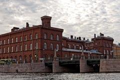 Damm des Griboyedov-Kanals in St Petersburg, Russland Stockbild