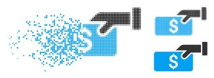 Damm Dot Halftone Pay Icon stock illustrationer