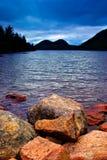 damm för acadiajordan nationalpark royaltyfria foton