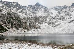 Damm för Tatra nationalparksvart Arkivbilder