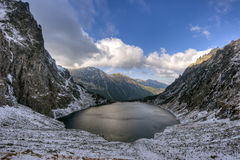 Damm för Tatra nationalparksvart Royaltyfria Bilder