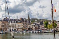 Damm in Honfleur, Frankreich stockfotos