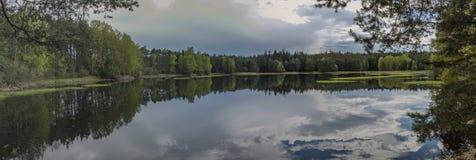 Damm i södra Bohemia som namnges Zdarsky arkivfoton