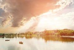 Damm i Tsaritsyno Royaltyfri Bild