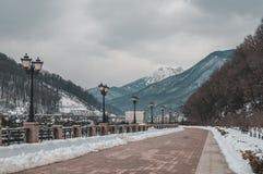 Damm in Krasnaya Polyana lizenzfreies stockbild