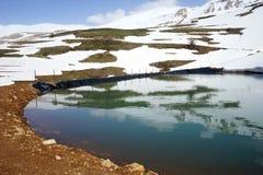 Damm med vatten royaltyfria bilder