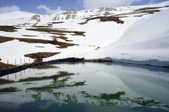 Damm med vatten arkivbild