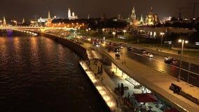 Damm Moskaus der Kreml am Sommerabend, Russland stock footage