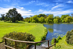 Damm nära Leeds Castle i Kent royaltyfria foton