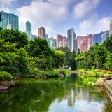 Hong Kong parkerar royaltyfri fotografi