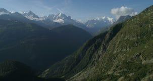 Damm- och Mont Blanc dal, Emosson - antenn 4K lager videofilmer