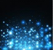 Damm på en genomskinlig bakgrund ljusa stjärnor Glödbelysningeffekten Royaltyfria Foton