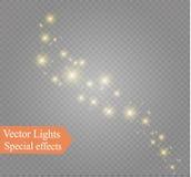 Damm på en genomskinlig bakgrund ljusa stjärnor Glödbelysningeffekten Royaltyfria Bilder
