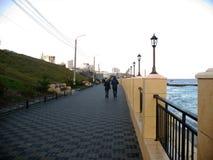 Damm Schwarzen Meers vor der Küste von Odessa Stockfotos