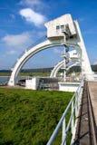 Damm- und Schleusenbau in Driel, die Niederlande Lizenzfreies Stockbild