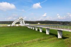 Damm- und Schleusenbau in Driel, die Niederlande Stockfotos