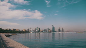 Damm von Baku stock footage