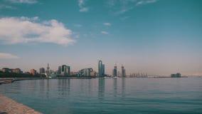 Damm von Baku stock video footage