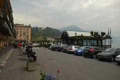 Damm von Como See, Italien stockfoto