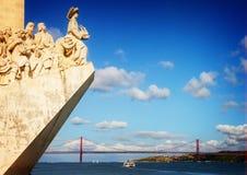 Damm von Fluss der Tajo, Lissabon, Portugal Lizenzfreie Stockfotografie