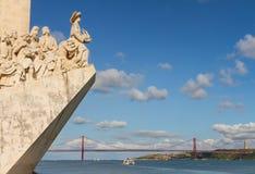 Damm von Fluss der Tajo, Lissabon, Portugal Lizenzfreies Stockbild