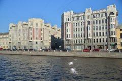 Damm von Fontanka-Fluss 86-88, an der Kreuzung von Borod Lizenzfreies Stockfoto