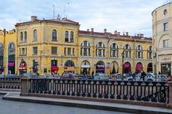 Damm von Griboyedov-Kanal, St Petersburg, Russland Lizenzfreie Stockfotografie