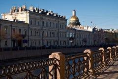 Damm von Moika-Fluss in St Petersburg Stockfotografie