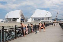 Damm von Sochi Lizenzfreie Stockfotos