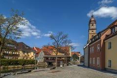 Damm von Vils rive, Amberg, Deutschland lizenzfreies stockfoto
