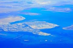 Dammam, Saudi Arabia. Aerial view of Dammam in Saudi Arabia stock images