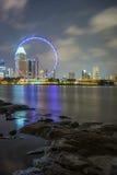 Dammansicht von Singapur-Flieger Lizenzfreie Stockfotografie