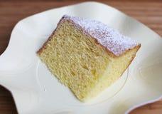 dammat av stycksocker för cake chiffon arkivfoton