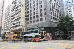 Dammbucht-Straßenansicht in Hong Kong Stockbild