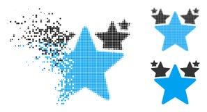 DammDot Halftone Stars Hit Parade symbol stock illustrationer
