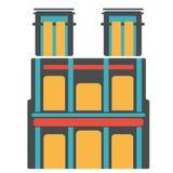 Damme francés antiguo París del notre del símbolo stock de ilustración